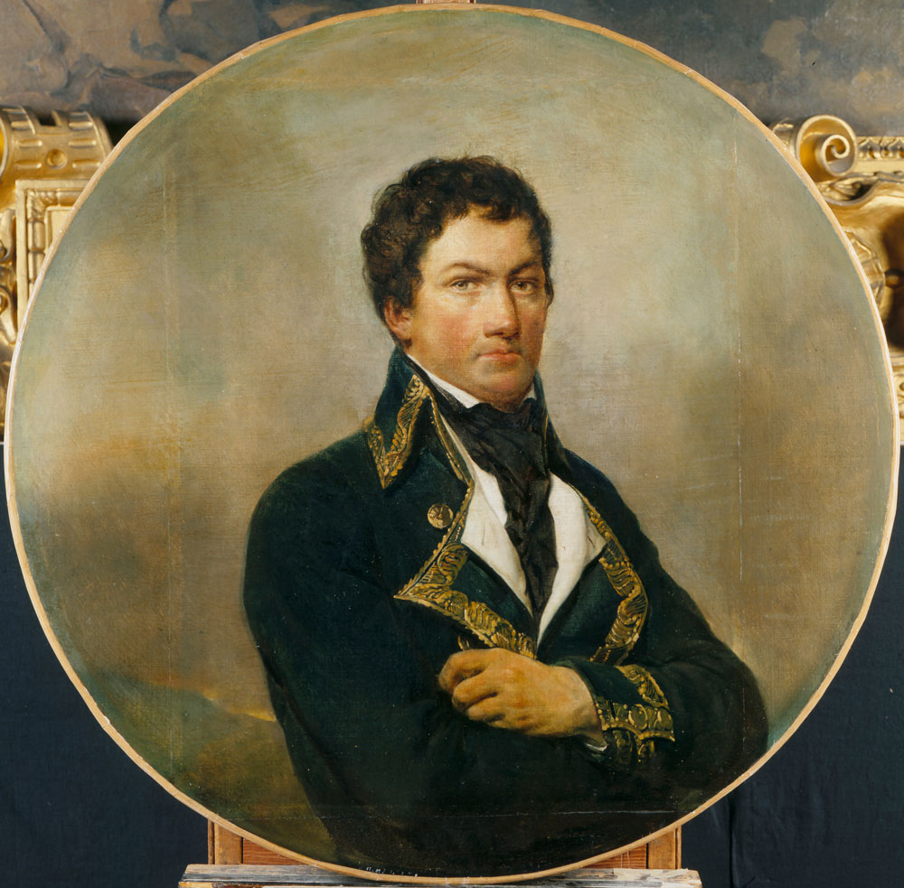 Georges Rouget (France, 1784–1869), photographed by Arnaudet, Francisco de Miranda general of the Army of the North 1792. Chateaux de Versailles et de Trianon, Versailles, France. Réunion des Musées Nationaux / Art Resource, NY.