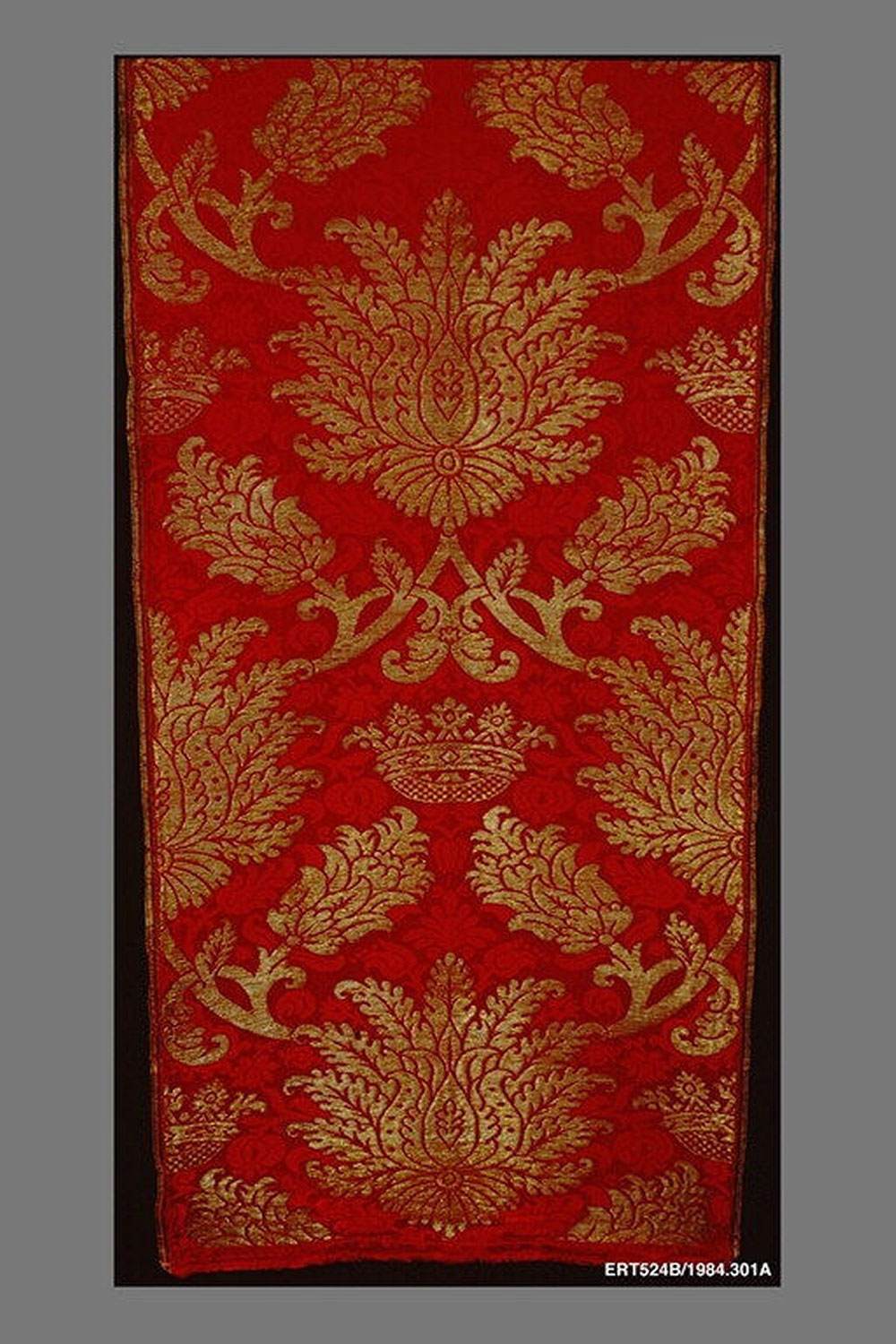 Panel, 17th century. Lent by the Metropolitan Museum of Art, Rogers Fund and Director's Discretionary Fund, 1984 (1984.301a).