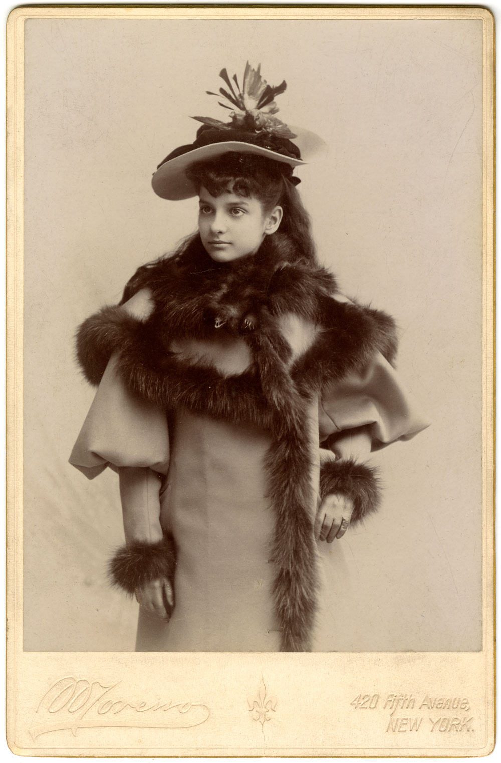 Elena Rionda in New York City, 1894. George A. Smathers Libraries, University of Florida.