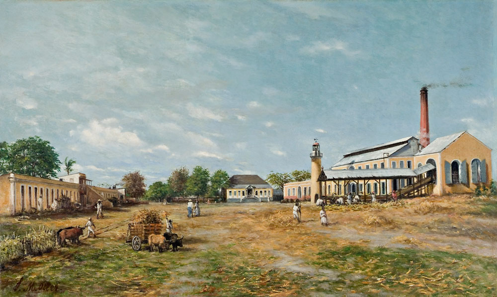 Franciso Oller (Puerto Rico, 1833–1917), Hacienda La Fortuna, 1885. Oil on canvas. Collection of Carmen G. Correa.