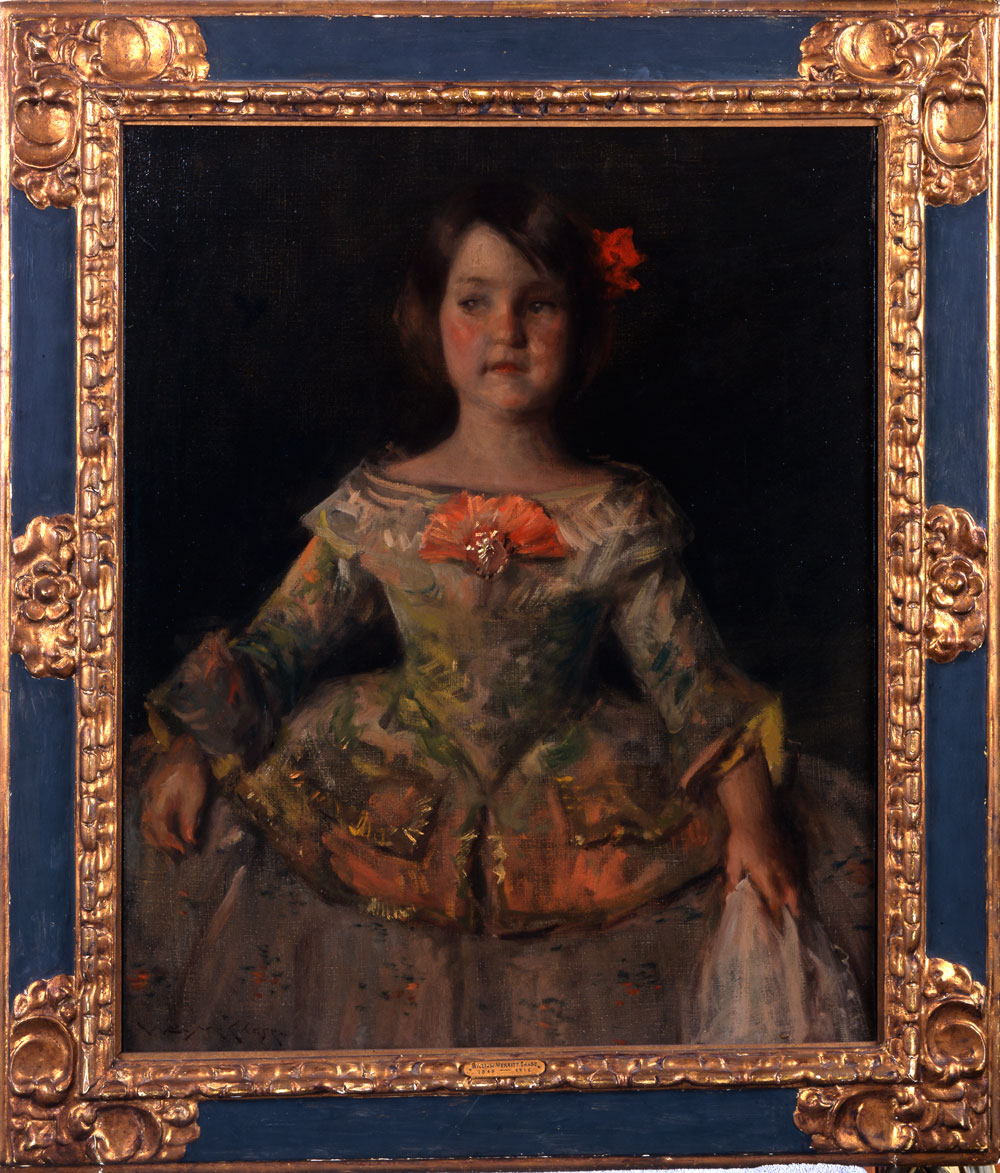 William Merritt Chase (United States, 1849–1916), An Infanta, A Souvenir of Velázquez, 1899. Oil on canvas. Private Lender.