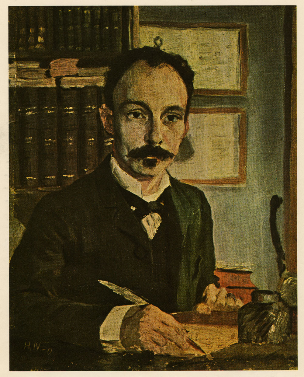 Herman Normann (Sweden, 1864–1906), Portrait of José Martí (1853-95), 1891. Oil on  canvas. Reproduction. Cuban Heritage Collection, University of Miami.