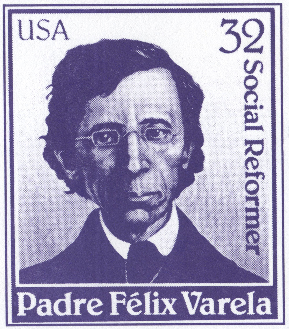 Félix Varela, blow up of stamp, 1997. Reproduction. Emilio Cueto Collection, Washington D.C.