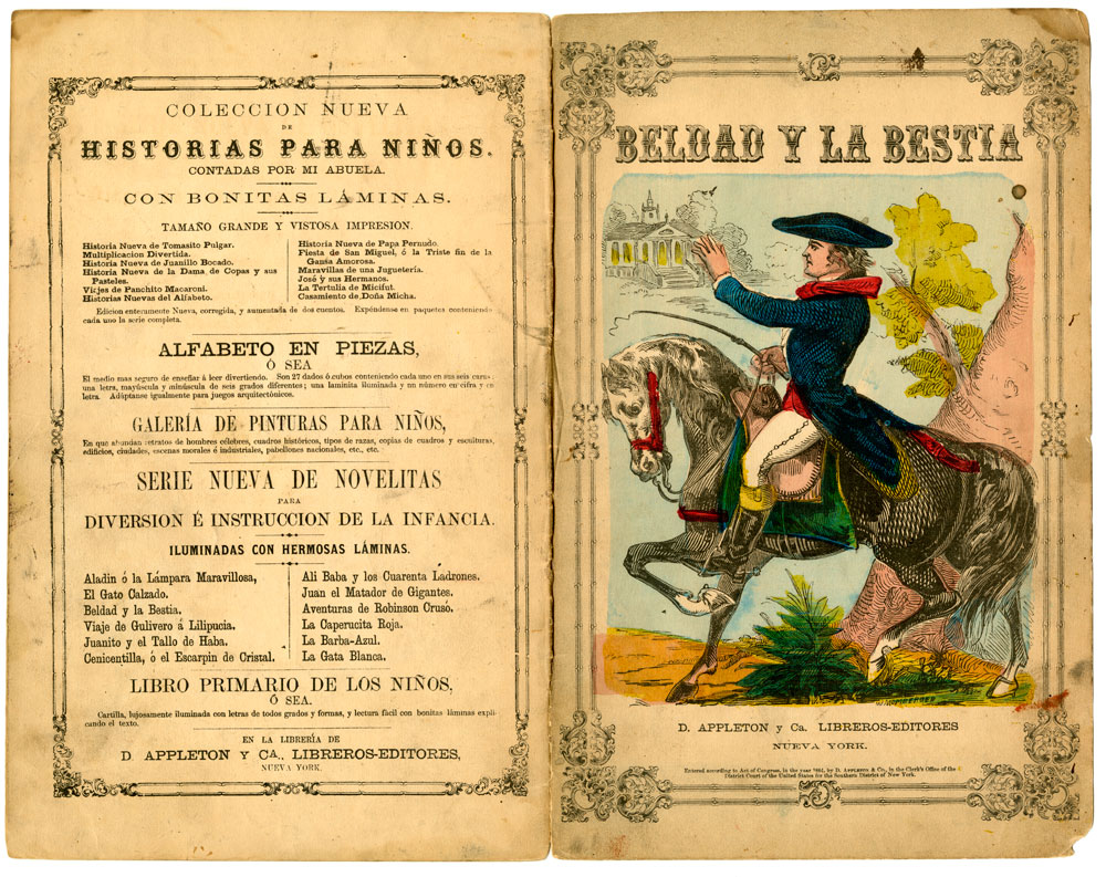 William Momberger, Beldad y la bestia. Nueva York: D. Appleton y Ca. libreros-editores, 1864. New-York Historical Society.