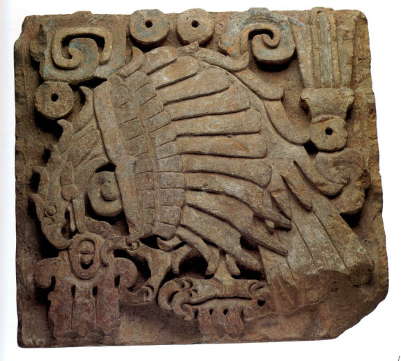 Eagle Relief, Precolumbian: Mexico; Toltec, 10th–13th century. Lent by the Metropolitan Museum of Art, Gift of Frederic E. Church, 1893 (93.27.1).