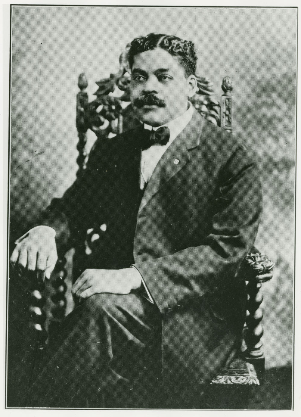 Portrait of Arthur Alfonso Schomburg, bibliophile, ca. 1900s. Reproduction. New York Public Library, Arthur Alfonso Schomburg Photograph Collection, Photographs and Prints Division, Schomburg Center for Research in Black Culture, The New York Public Library, Astor, Lenox and Tilden Foundations.