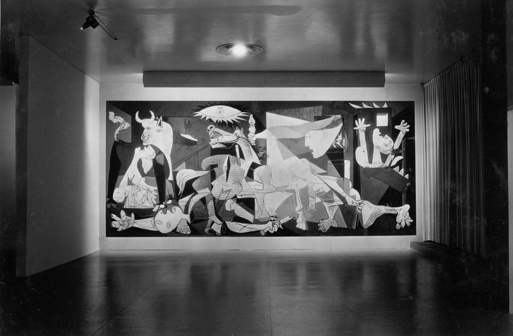 "Installation view of the exhibition, ""Picasso: Forty Years of His Art."" The Museum of Modern Art, New York, November 15, 1939 through January 7, 1940. The Museum of Modern Art, New York (IN91.7). Digital Image © The Museum of Modern Art / Licensed by SCALA / Art Resource, NY."